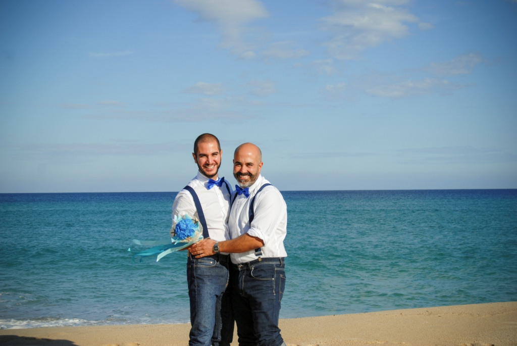 gay med wed gay beach wedding sardinia italy